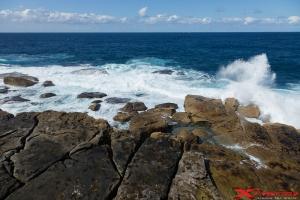Seaside landscape with rocks