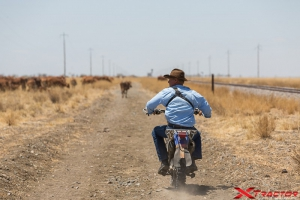 Australian man riding a motorbike