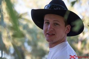 Australian boy at work